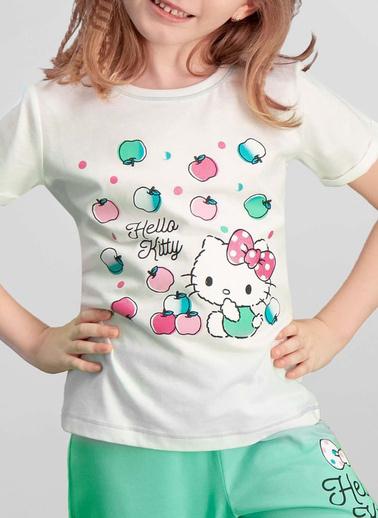 Hello Kitty Hello Kitty Lisanslı Kız Çocuk Pijama Takımı Krem